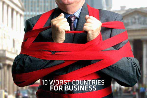 Top 10 Worst Countries to Start a Business in the world