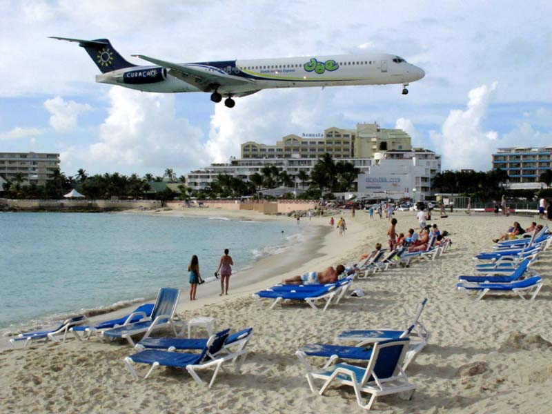Maho Beach, Saint Martin--most-beautiful-beaches-world-best-resorts